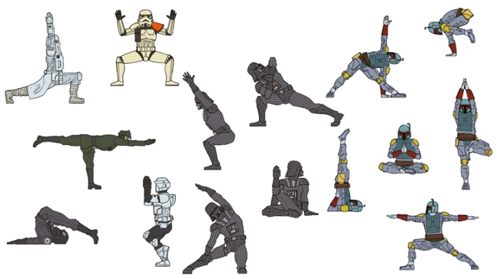 Star-Wars-Montage-Yoga-Pose-Cartoons-3