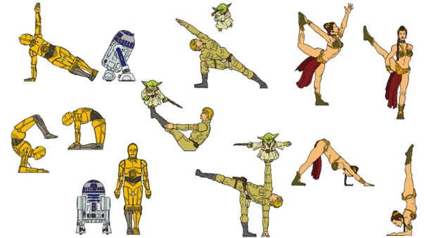 Star-Wars-Montage-Yoga-Pose-Cartoons-4